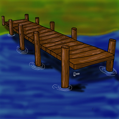 Pier at the waters edge  | Dwight | Digital Drawing | PENUP
