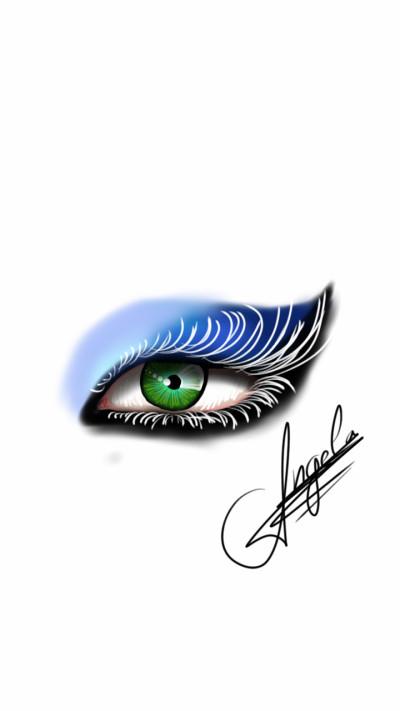 emerald eye | AngelaPezzotti | Digital Drawing | PENUP
