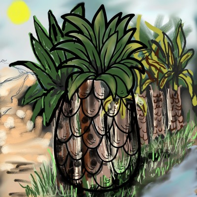 Oasis in the desert  | lopz | Digital Drawing | PENUP