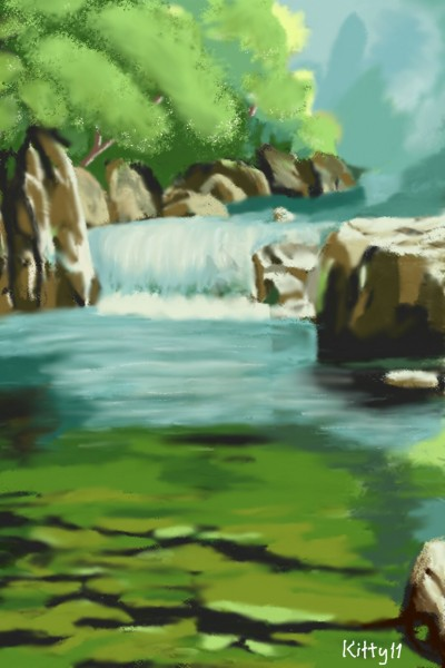 The beauty of river | Kitty11 | Digital Drawing | PENUP