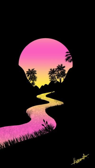 sunset river   Reema21   Digital Drawing   PENUP
