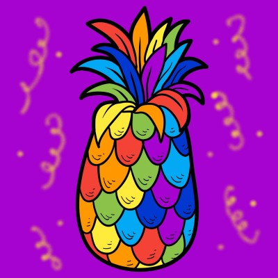 rainbow party pineapple | dena | Digital Drawing | PENUP