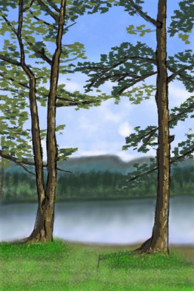 Nature makes my heart rich   pokapoka   Digital Drawing   PENUP