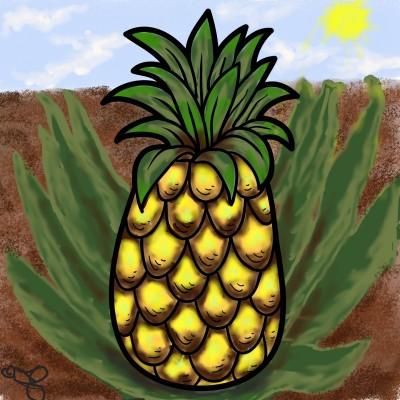 Fresh Pineapple  | Jules | Digital Drawing | PENUP