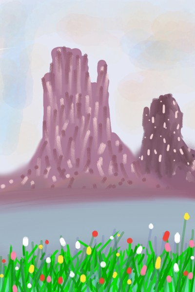 Mountain border river and flowers | Venkatesh | Digital Drawing | PENUP