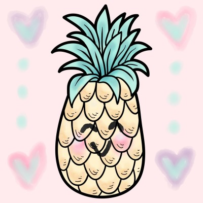 Happy Pineapple  | danichristine | Digital Drawing | PENUP