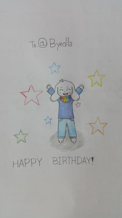 happy birthday!  | papyru-SANS | Digital Drawing | PENUP