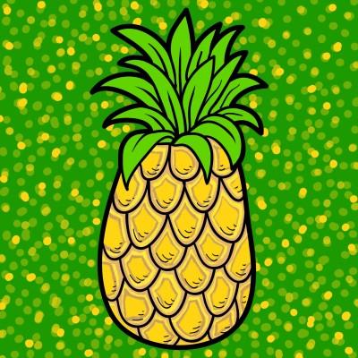 Pineapple  | Trish | Digital Drawing | PENUP