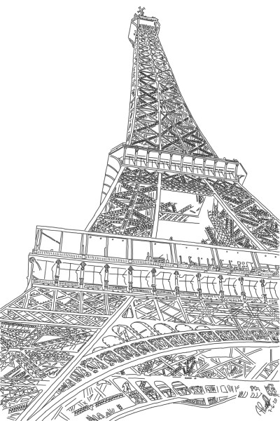 The Eiffel Tower Paris | StevenCarroll | Digital Drawing | PENUP