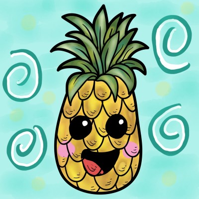 Happy pineapple  | JazzyStar | Digital Drawing | PENUP