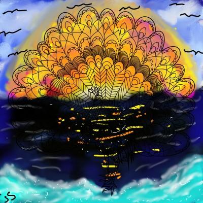 Beautiful sunset!! | Jules | Digital Drawing | PENUP