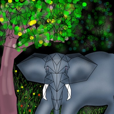 One of the elephants roamed the forest | Venkatesh | Digital Drawing | PENUP