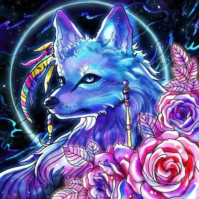 Blue  Wolf | Gaycouple | Digital Drawing | PENUP