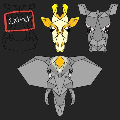 sad origami animals | Art4Life | Digital Drawing | PENUP