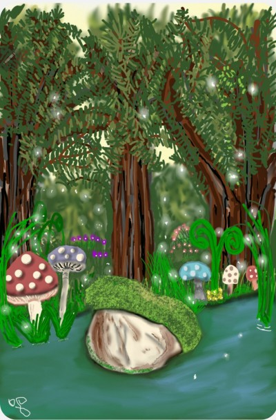 River in the forest | Jules | Digital Drawing | PENUP