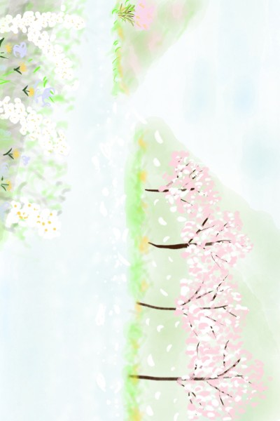 57.강가에 흐르는 봄 Spring flowing by the river side | youngsook | Digital Drawing | PENUP