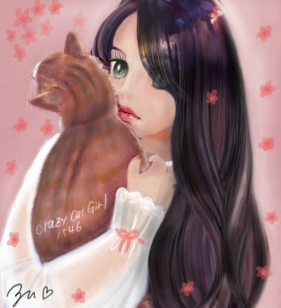 Thank you friend❣Crazy CatGirl1546 | azu | Digital Drawing | PENUP