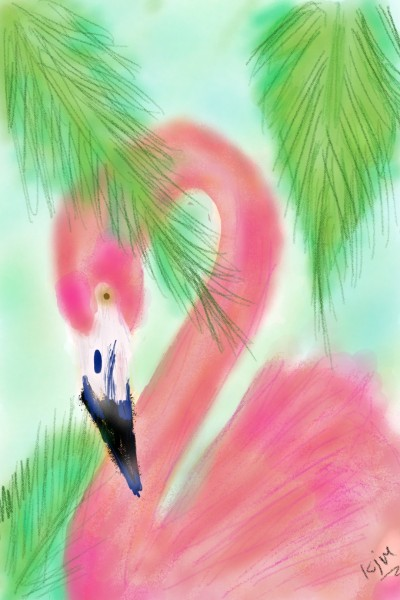 flamingo my amigo. | kitt | Digital Drawing | PENUP
