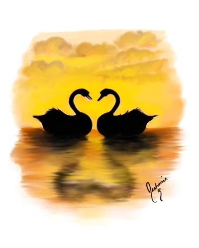 Two swans | Mia | Digital Drawing | PENUP