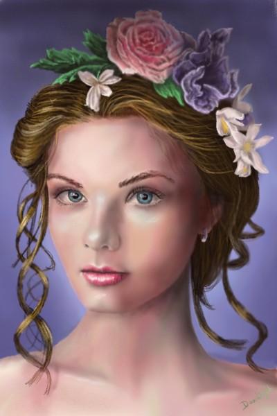 Portrait couronné de fleurs | Doodilight | Digital Drawing | PENUP