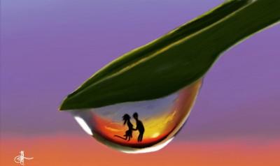 love in a drop of water ♡   Erkan-Beyatli   Digital Drawing   PENUP