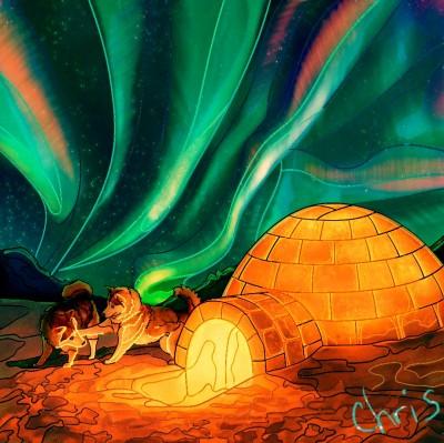 Aurora borealis  | Chris | Digital Drawing | PENUP