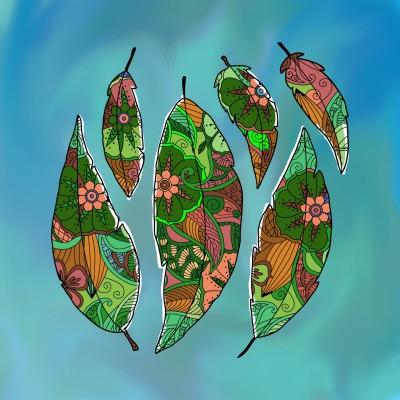 colorful leaves | Chris | Digital Drawing | PENUP