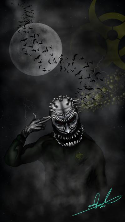 Corona Monster  | Yousif_Aqeel | Digital Drawing | PENUP