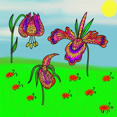 ladybugs on a prairie | missT | Digital Drawing | PENUP