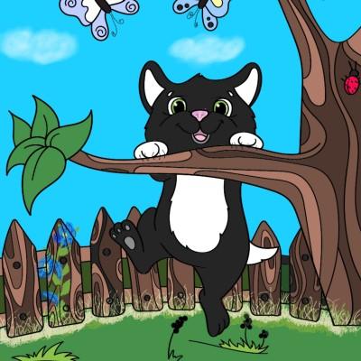 Hanging Cat   Trish   Digital Drawing   PENUP