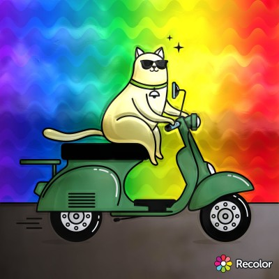 cat just scooting around | Zenovia | Digital Drawing | PENUP