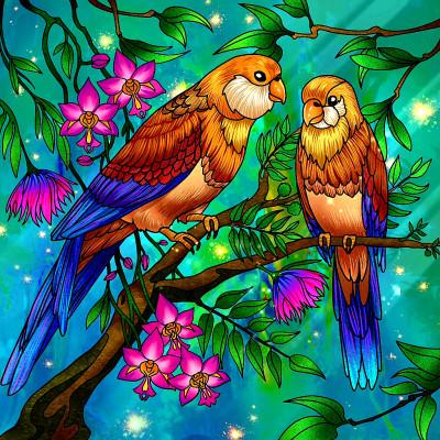 Oiseaux  | richard | Digital Drawing | PENUP