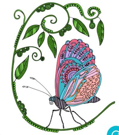Papillon  | richard | Digital Drawing | PENUP