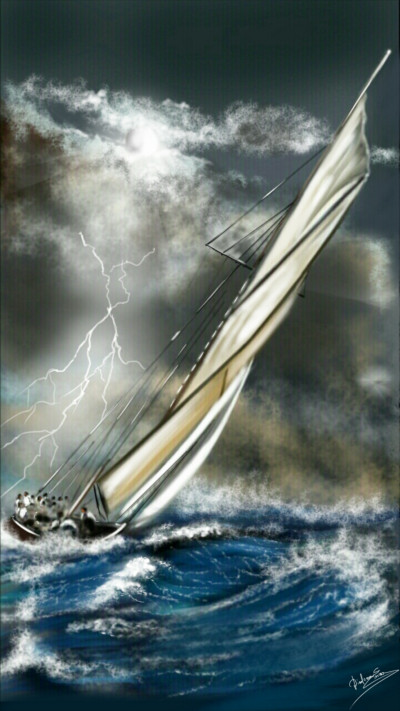 The storm  | Abex | Digital Drawing | PENUP