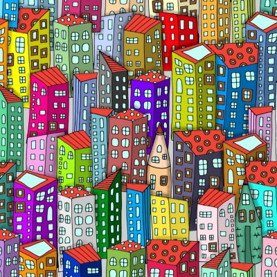 A city with character   stedf   Digital Drawing   PENUP