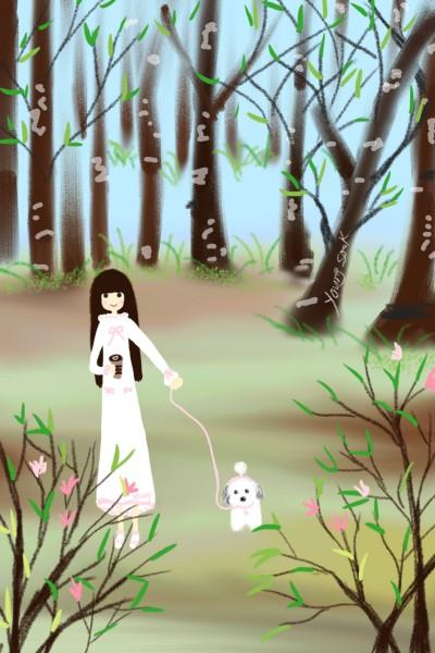 99. 봄과 함께 산책 | youngsook | Digital Drawing | PENUP