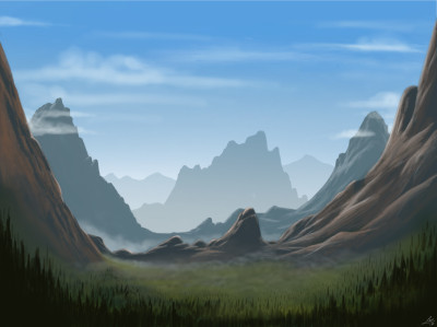 Training landscape   Lucs   Digital Drawing   PENUP