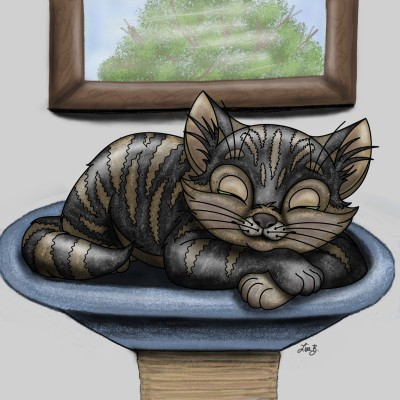 Cat Nap | LisaBme | Digital Drawing | PENUP