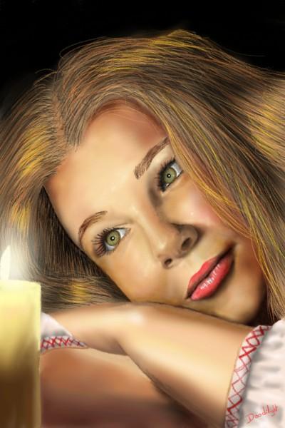 Portrait à la bougie    Doodilight   Digital Drawing   PENUP