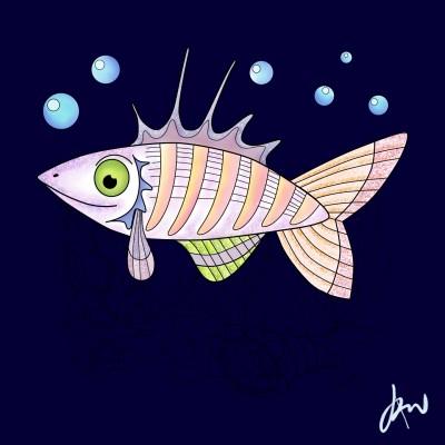 Deep Sea Pale Fish | ImpulsivePhotos | Digital Drawing | PENUP