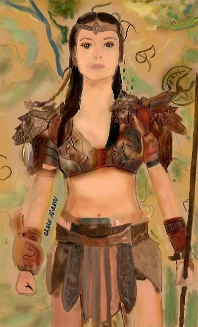 Warrior Princess (Earth Gem Keeper)  | Choloaldon | Digital Drawing | PENUP