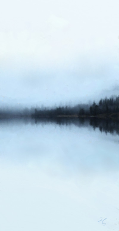 winter fog by the lake  | Hanne | Digital Drawing | PENUP