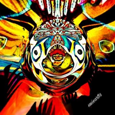 Abstract Colorful Bird Hiding  | SusieBrooklyn | Digital Drawing | PENUP