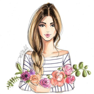 Flower Lady  | Wolfgang | Digital Drawing | PENUP