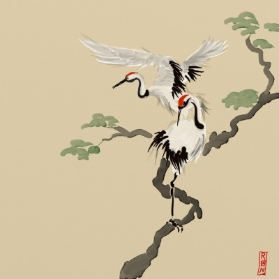 Cranes | Grafixguru | Digital Drawing | PENUP