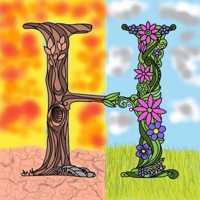 Nature dualism  | nks | Digital Drawing | PENUP