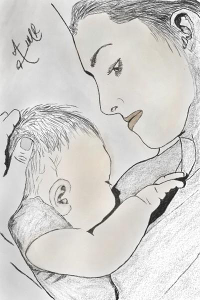 love u mom | Abrarahmad | Digital Drawing | PENUP