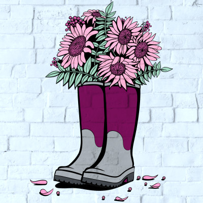 flower boots | Chris | Digital Drawing | PENUP