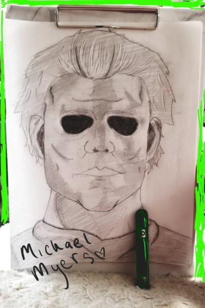 rough Michael Myers sketch:) | nobodyfun | Digital Drawing | PENUP