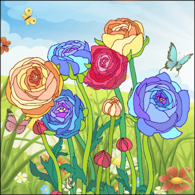 Rose  Garden | Gaycouple | Digital Drawing | PENUP